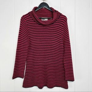 Habitat Black & Red Knit Cowl Neck Sweater Small